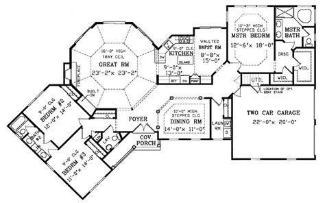 One Bedroom Floor Plan by Birney Ranch Home Plan 016d 0002 House Plans And More