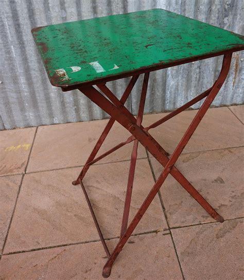 antieke bistrotafel oude frans brocante ijzeren klaptafeltje tuintafeltje