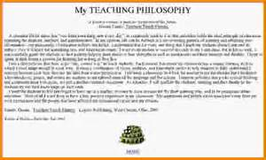 Teaching Philosophy Template by Philosophy Of Teaching Exles Statement Of Teaching