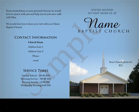 Template 7 Baptist Tracts Baptist Tracts Church Tracts Templates