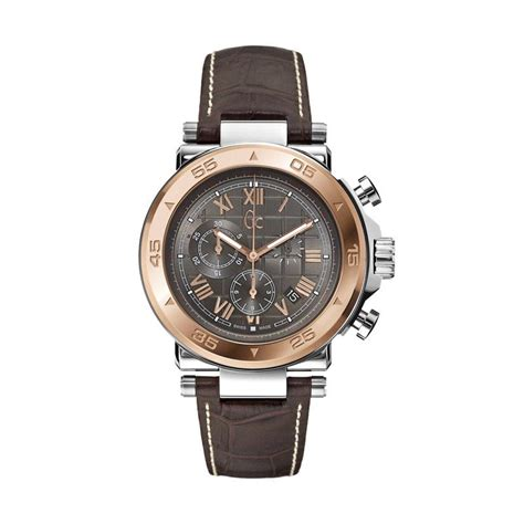 Jam Tangan Pria Cowok Guess Set Leather Grey Limited jual guess collection leather jam tangan pria gc x90005g2s coklat rosegold harga