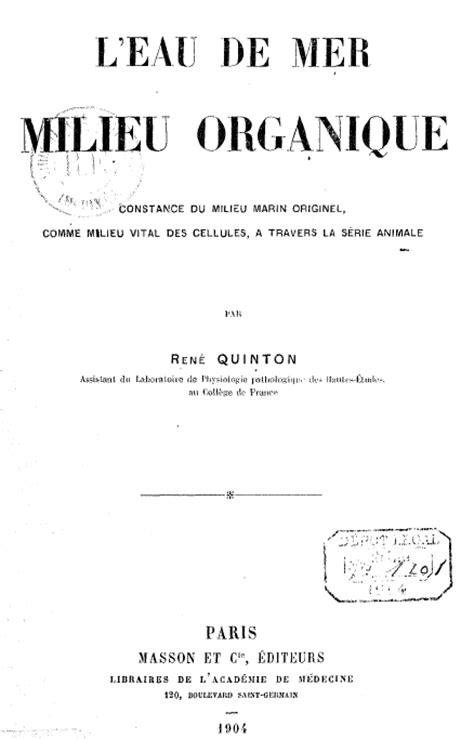 1359867961 l eau de mer milieu organique ren 233 quinton l eau de mer milieu organique the savoisien
