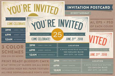 invitation design market invitation postcard invitation templates on creative market