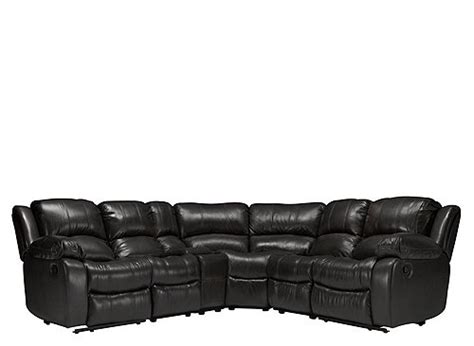 bryant ii leather sofa bryant ii 6 pc leather reclining sectional sofa black