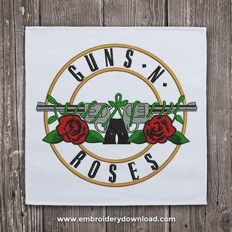 guns  roses logo embroidery design applique