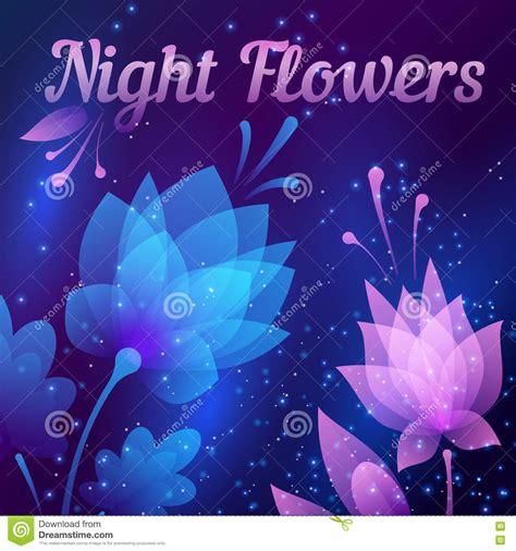 imagenes abstractas bellas flores de noche futuristas hermosas tarjeta abstracta
