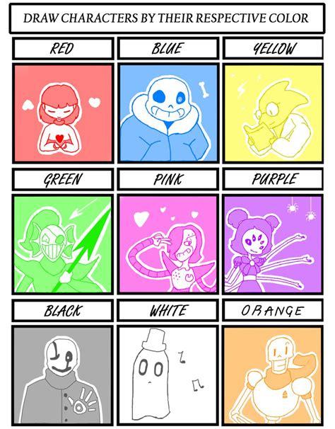 colors meme undertale color meme by nekuz on deviantart