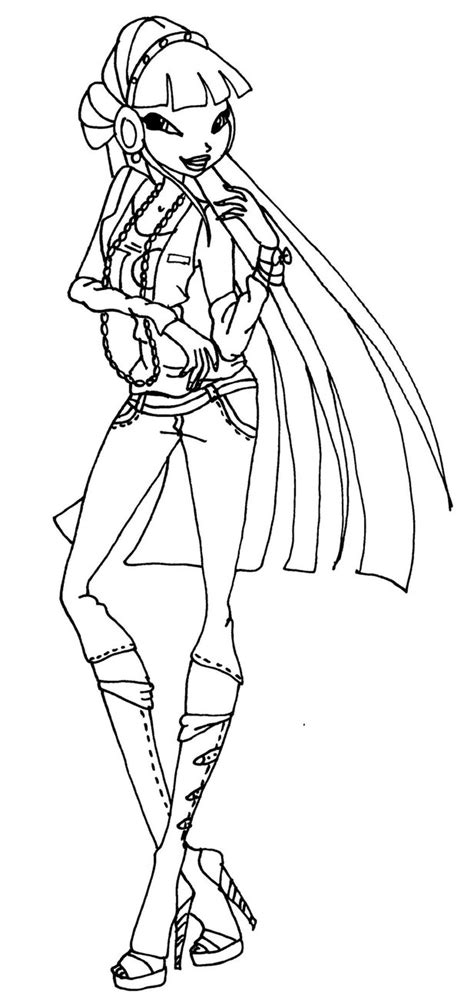Musa Winx Coloring Pages Download And Print For Free Winx Club Musa Coloring Pages