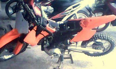Dudukan Stang Stir Yamaha V75 Ori Second modifikasi motor trail modifikasi satria 2 tak