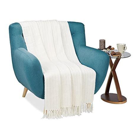 wohndecke mit ärmeln baumwolle wohndecken und andere wohntextilien relaxdays