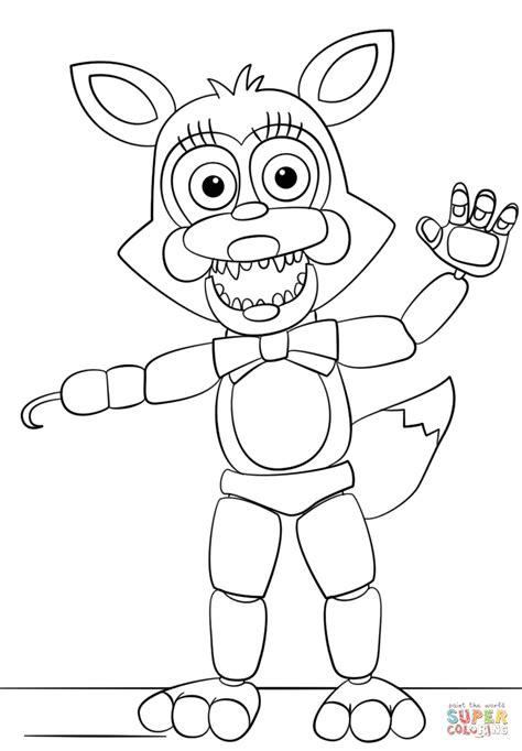 five nights of freddy coloring pages mangle from five nights at freddy s coloring page free