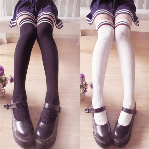 Cute Stockings | cute kawaii japanese striped stockings 183 cute kawaii
