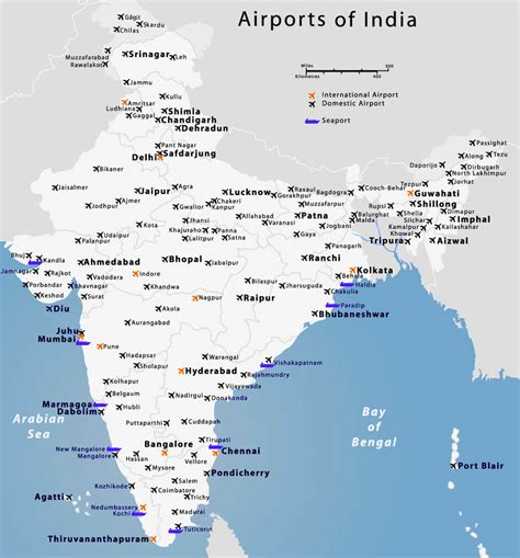 of india list of airports in india general awareness study