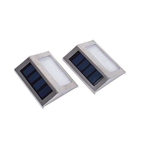 Lightess Solar Step Stair Outdoor Staircase Lights 2 Led Solar Step Lights Outdoor