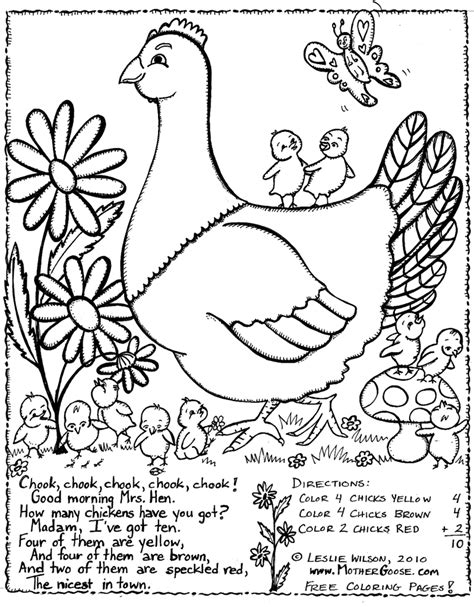 little red hen coloring page letter h pinterest little red