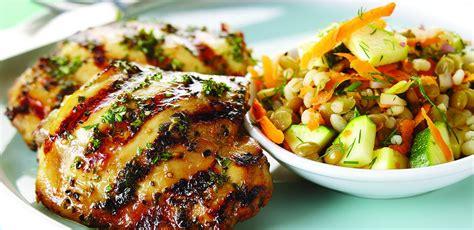 Poulet Grille by Recettes Poulet Grill 233 224 La Bi 232 Re Et Au Miel Avec Salade