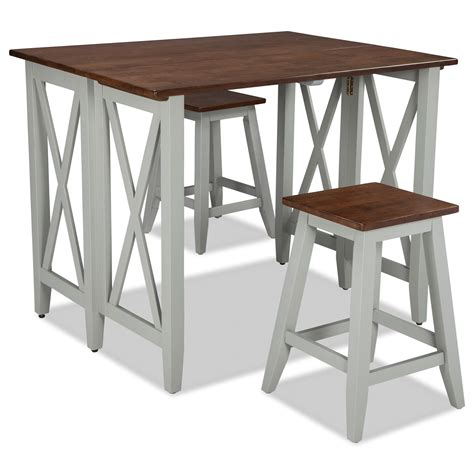 Stool Small Pieces by Intercon Small Space 3 Drop Leaf Breakfast Bar And