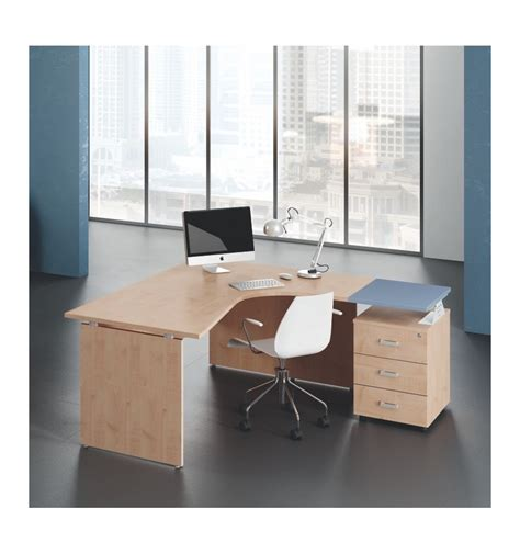 scrivania angolare ufficio scrivania angolare dx sx gamba in legno offixstore