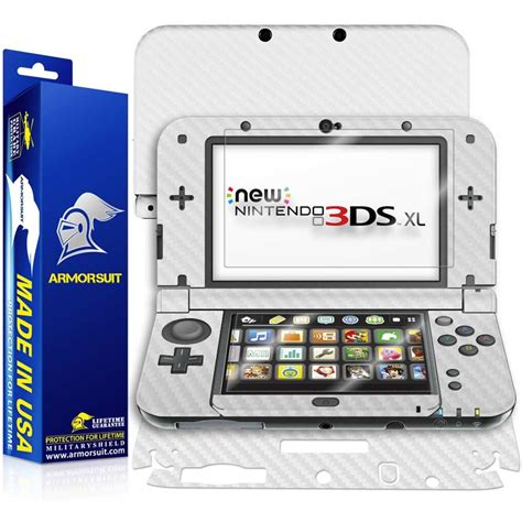 Screen Protector New 3ds Xl new nintendo 3ds xl 2015 screen protector white carbon fiber skin armorsuit