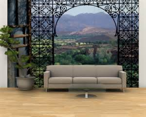 Moroccan Wall Murals Window View Posters Beautiful Scenes From Open Windows