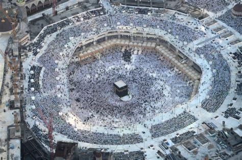 aerial view  masjid al haram makkah ramadan