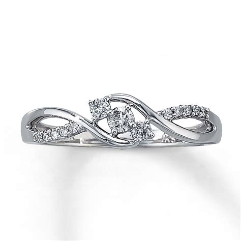 jared promise ring 1 5 ct tw cut 10k white