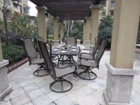 6 Chair Patio Set by Patio Set With 6 Swivel Chairs Icamblog