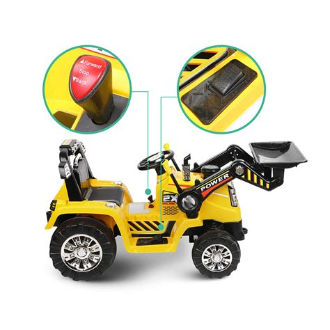 Cool Camping Chairs Kids Ride On Toy Tractor Bulldozer Yellow Electric With