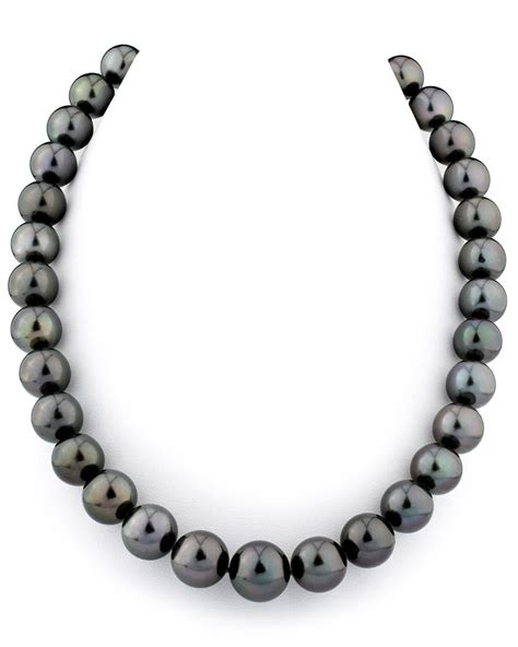 certified 11 14mm tahitian south sea pearl necklace aaaa