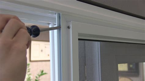 sliding screen door adjustment adjusting the rollers on your anlin sliding patio screen