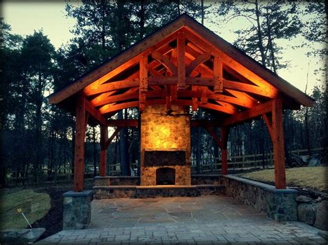 outdoor pavilions with fireplaces chantilly boulders in pool waterfalls pavilion