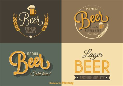 beer vector free retro beer vector labels download free vector art