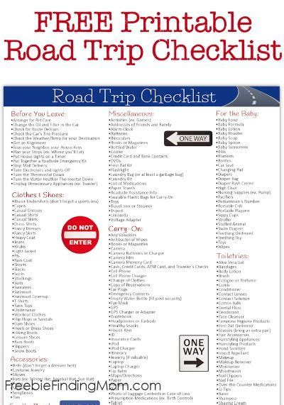 Printable Road Trip Packing Checklist | road trip tips reduce the stress in preparing use this