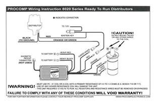 pro comp distributor wiring diagram wiring diagram and schematic diagram images
