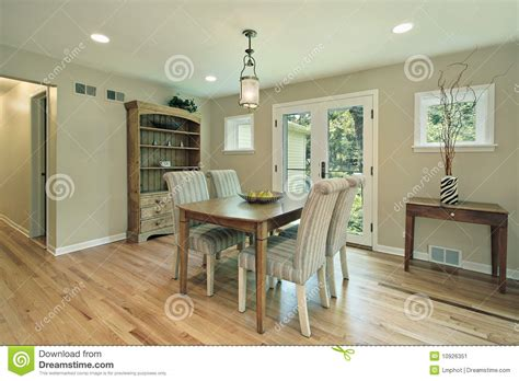 Dining Room With Patio Doors Dining Room With Doors To Patio Stock Image Image 10926351