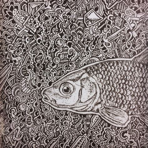 pattern drawing fish abstract fish drawing by nikitagrabovskiy on deviantart