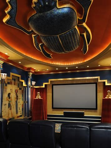 egyptian themed media room recognized  design
