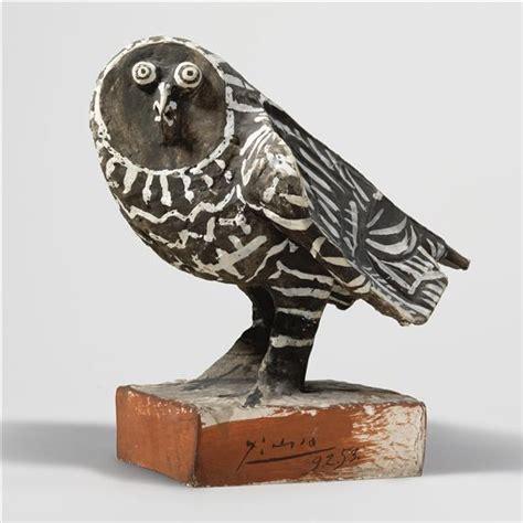 le grise pablo picasso le hibou gris 1953 handpainted terracotta height 13 5 8 in alt 34 5 cm