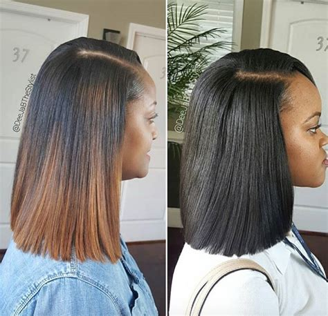 long bob sew in hairstyles amazing sew in vs quick weave by deejabthestylist https
