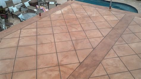 Faux Tile Finish over Desert Crete Exterior Flooring