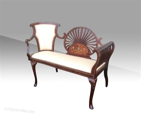 vintage settees fantastic quality small mahogany antique settee antiques