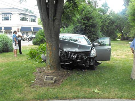 car crashes into tree car crashes into tree in fair bank green