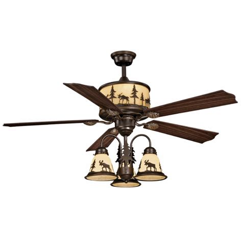 Ceiling Fan Rustic by Rustic Lodge Ceiling Fan With Light Kit Ceiling Fans