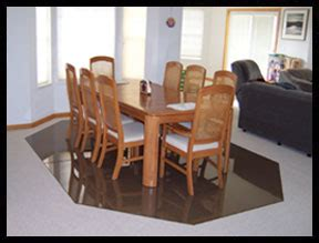 Plastic Floor Mat For Dining Room by Custom Chair Mats Glass Custom Floor Mats