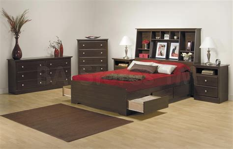 bookcase bedroom set fremont 4 pcs contemporary bedroom set with bookcase