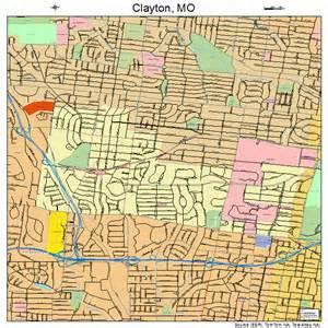 clayton map clayton missouri map 2914572