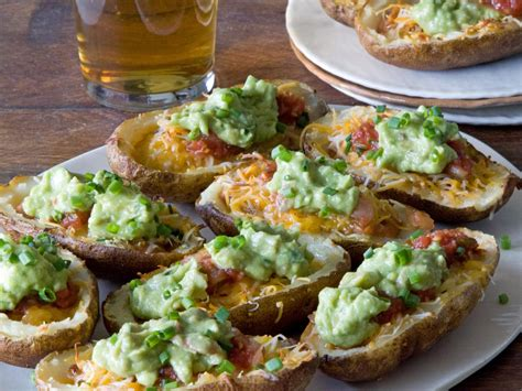 tailgating recipes for cold weather nacho stuffed potato skins hgtv