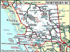 map bc canada map of northern columbia columbia travel
