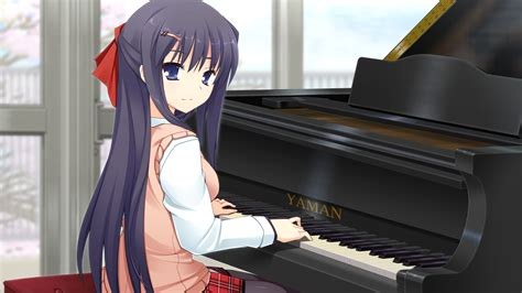 anime piano anime girl playing piano hd wallpaper stylishhdwallpapers