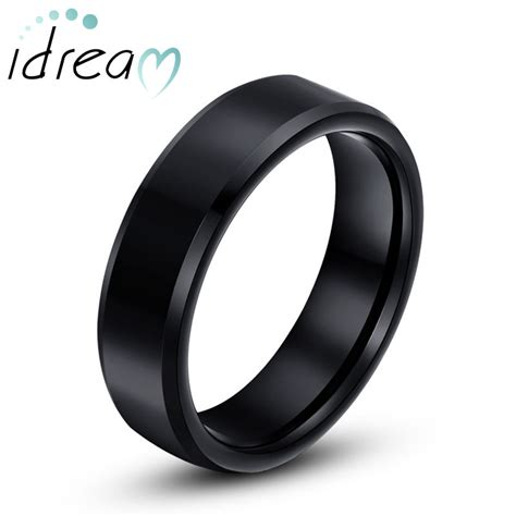 black tungsten wedding bands personalized tungsten